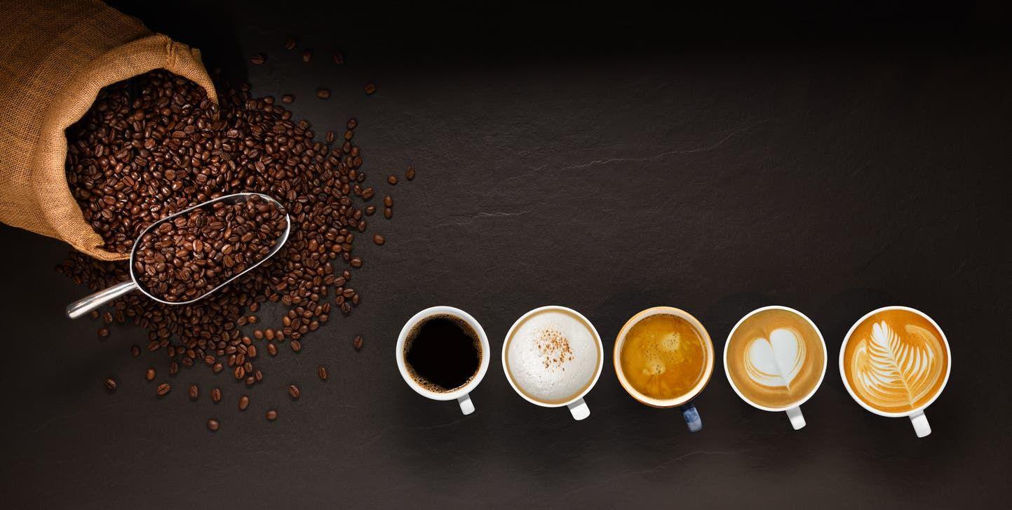 أنواع مختلفة من القهوة