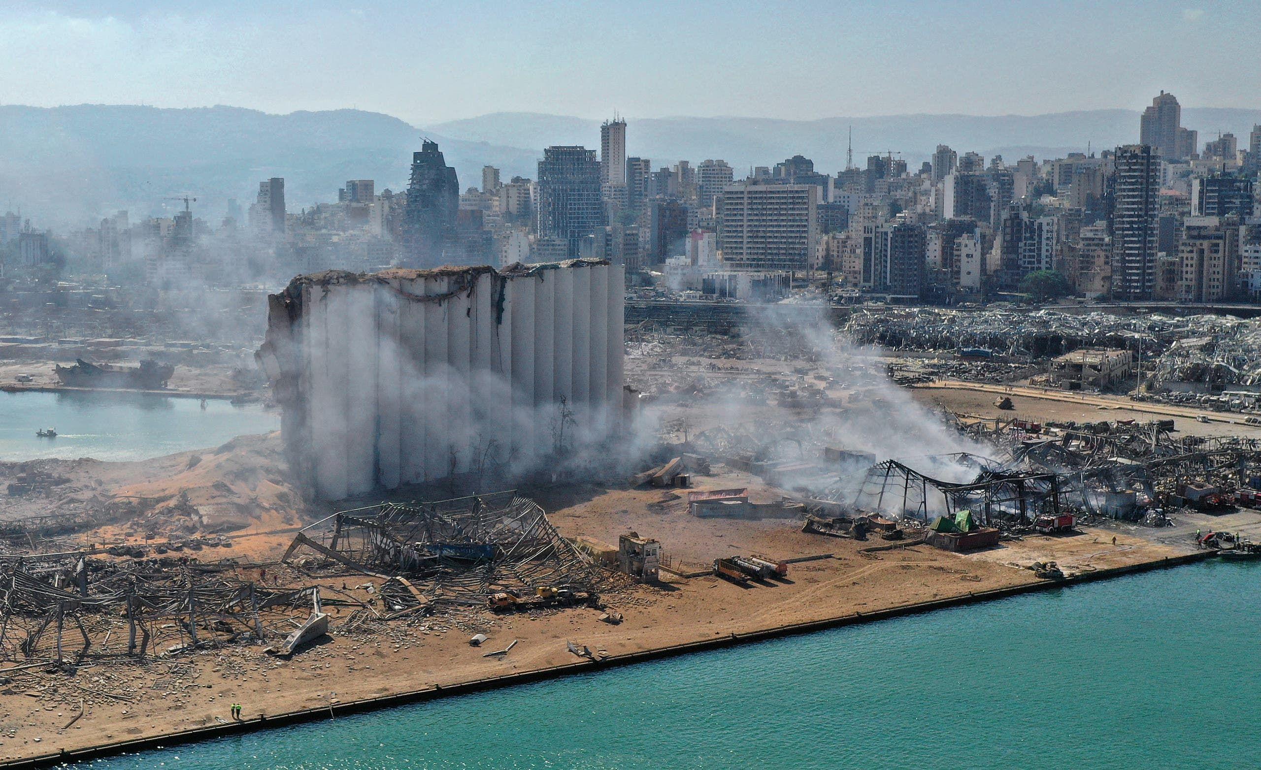 انفجار فرفأ بيروت (أرشيفية- فرانس برس)